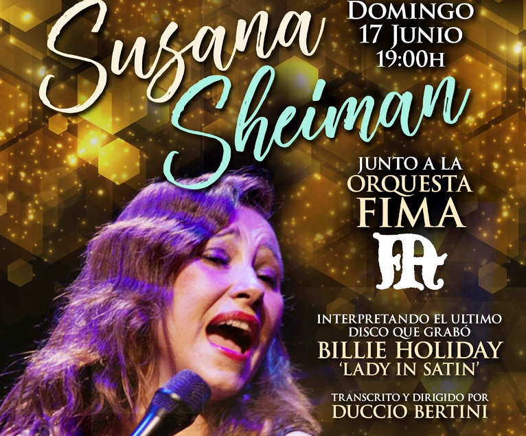 "Orquesta FIMA, Susana Sheiman & Duccio Bertini: Billie Holiday ""Lady in Satin"""