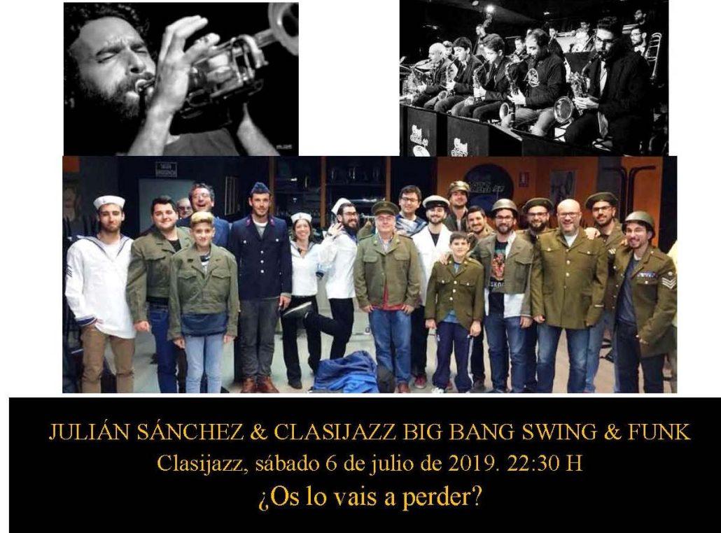 ¿Julián Sánchez & Clasijazz Big Band Swing & Funk? ¡Totum revolutum!